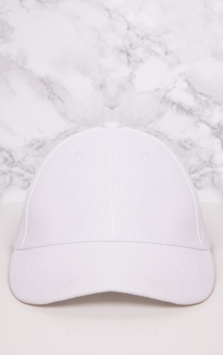 White Woven Baseball Cap 3