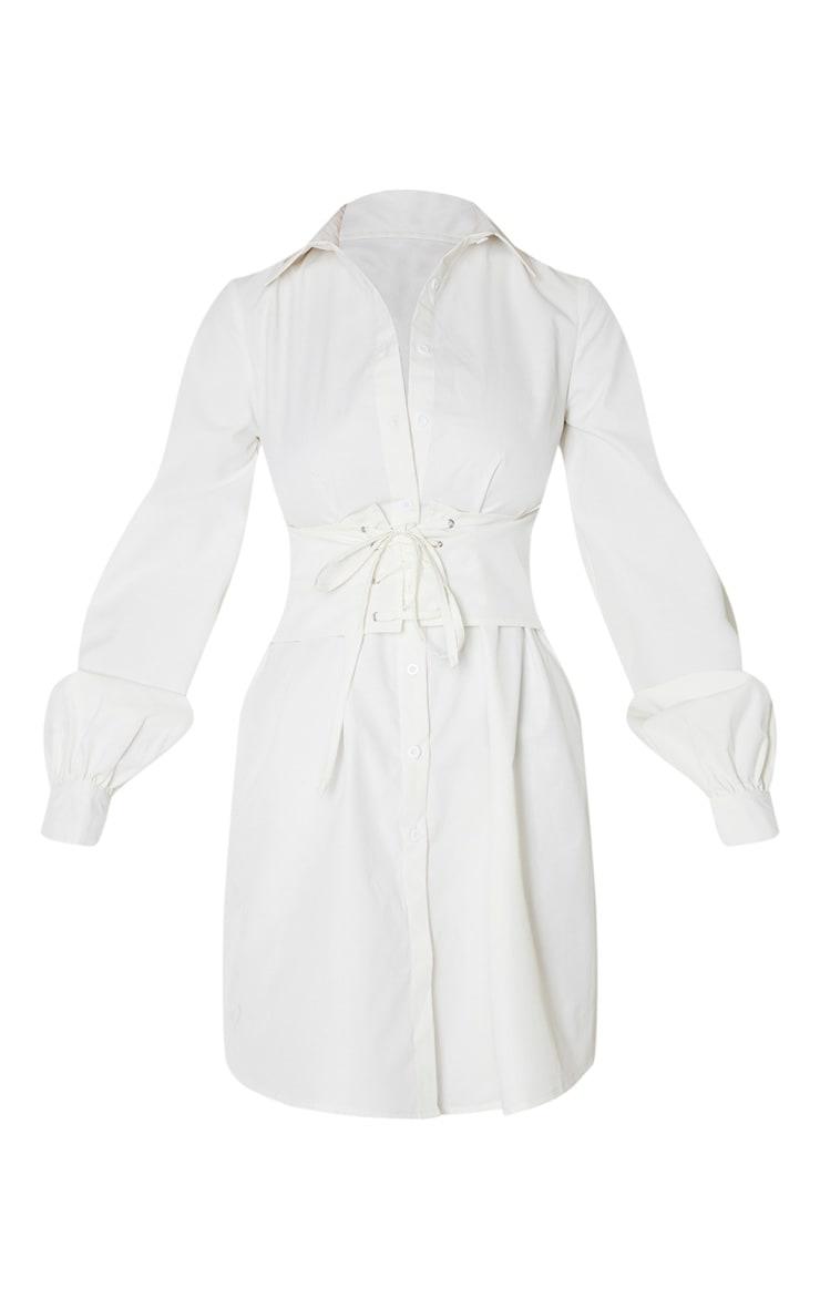 Tall - Robe chemise crème à détail corset 3