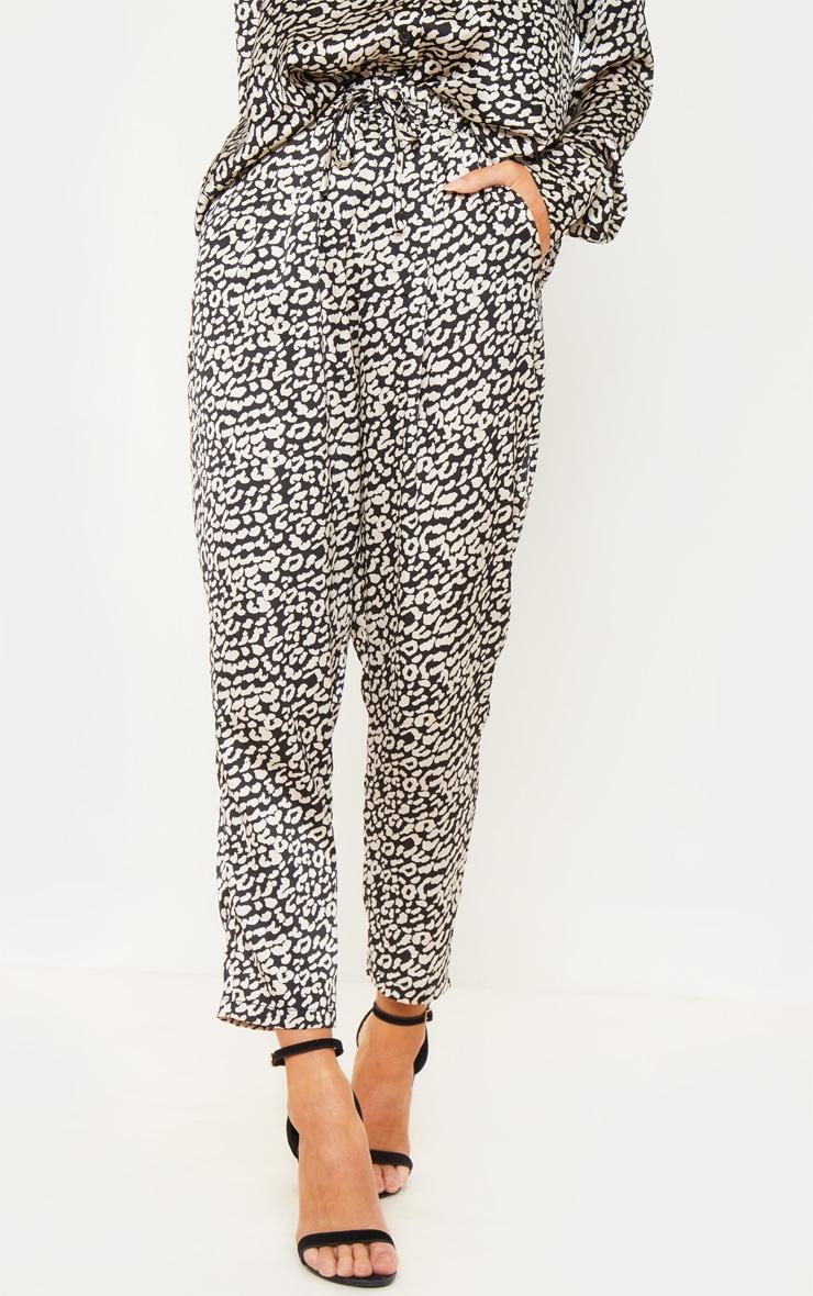 Leopard Printed Cigarette Pants 2
