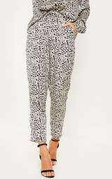 47a95fb81ad1 Leopard Printed Cigarette Trouser   Trousers   PrettyLittleThing