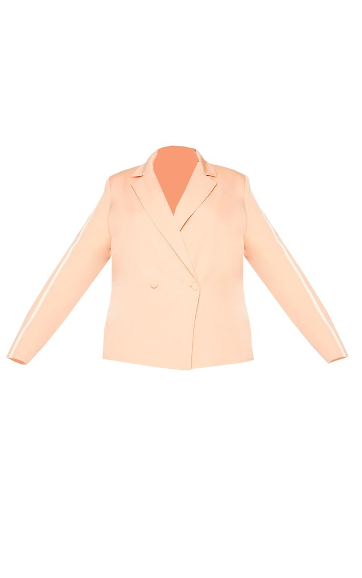 Plus Orange Stripe Detail Double Breasted Blazer 5