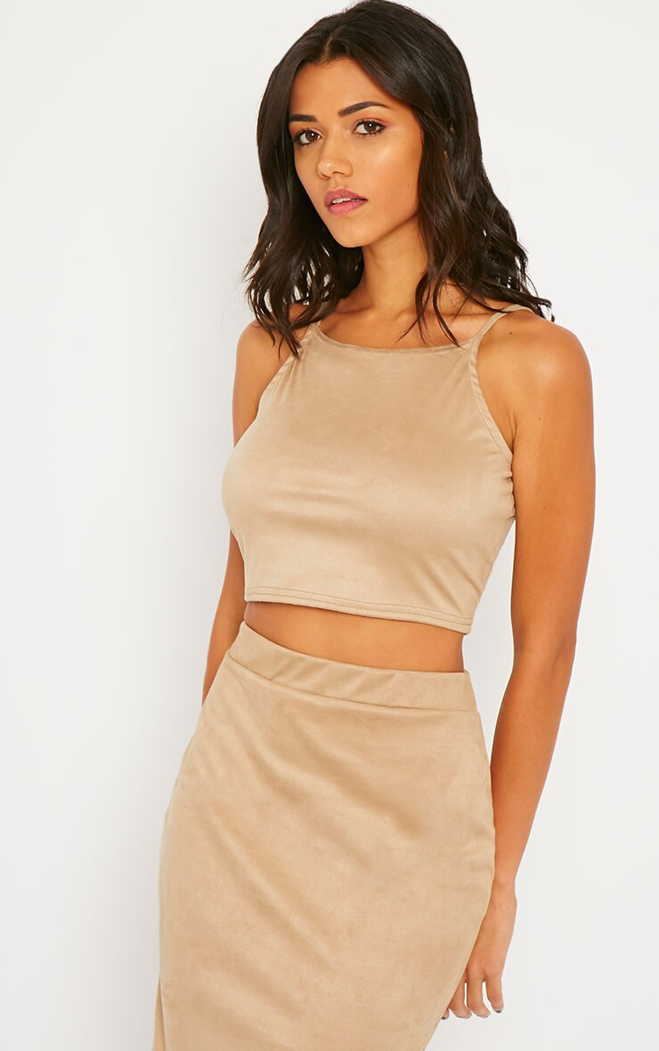 Amanda Stone Suede Crop Top 4