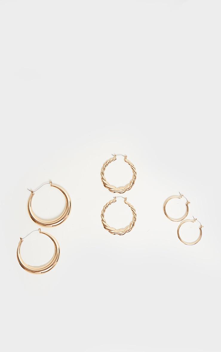 Gold Multi Pack Assorted Hoop Earrings 4