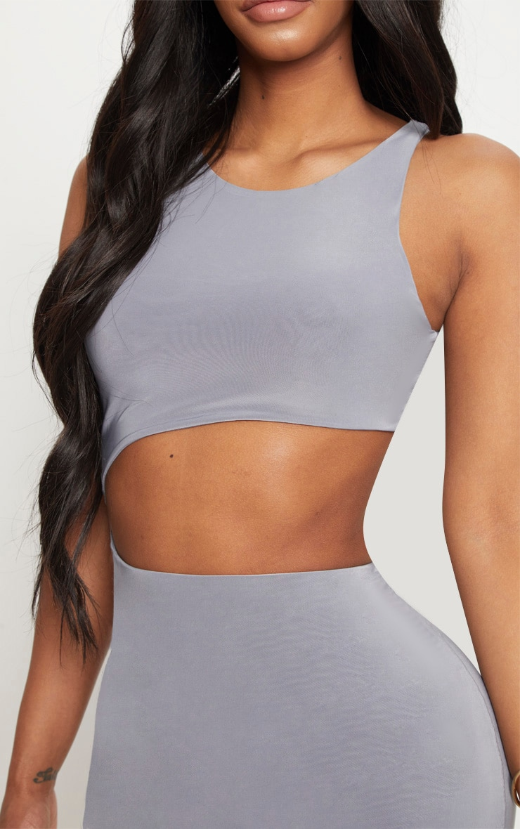 Shape Ice Grey Extreme Cut Out Midaxi Dress 5