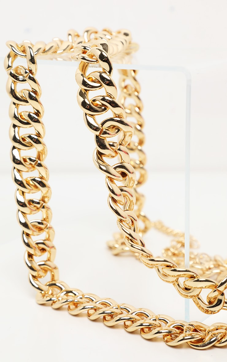 Gold Double Chain Belt 2