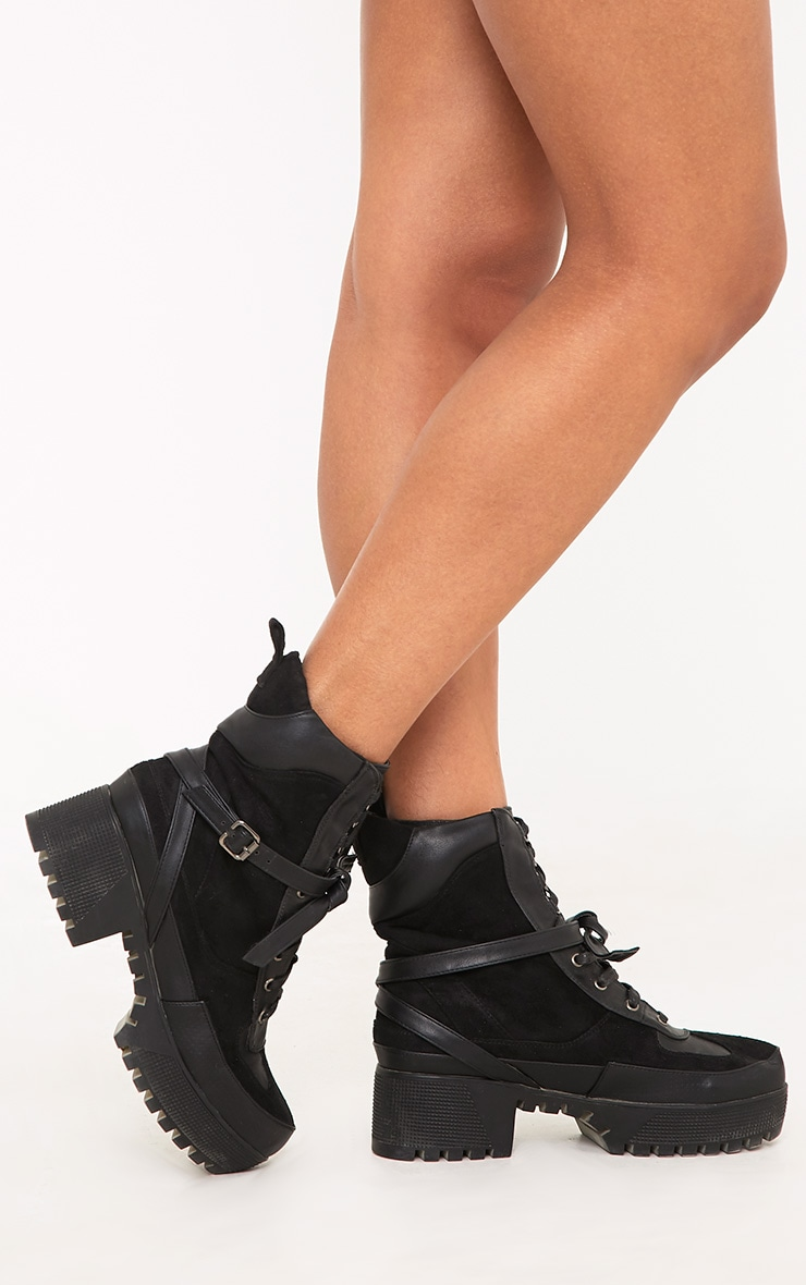 Karmel Black Biker Boots