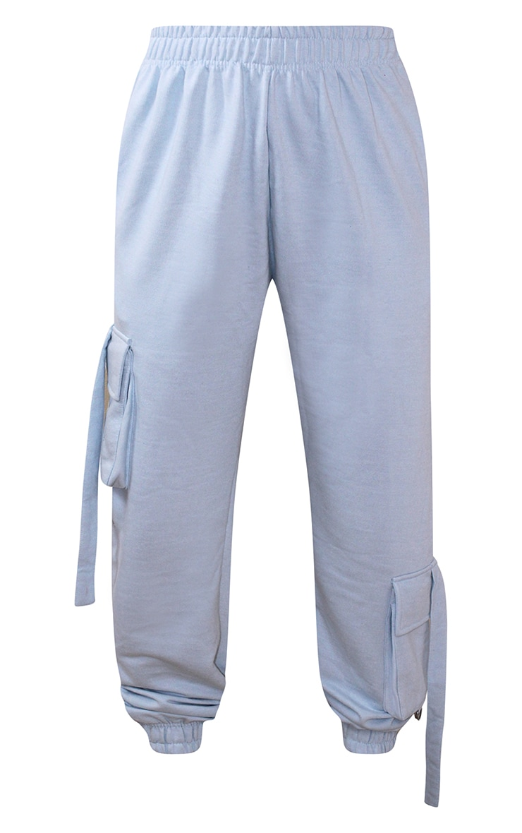 Petite Baby Blue Cargo Casual Joggers 5