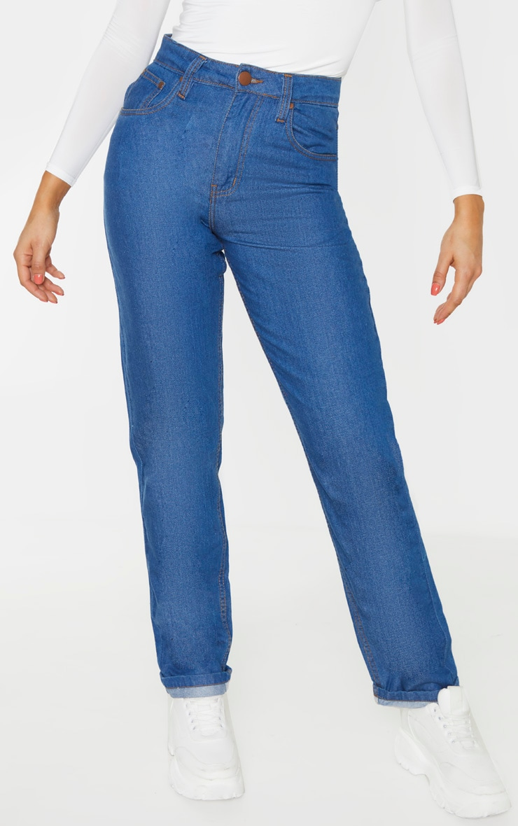 Tall Mid Wash Slim Mom Jean  2
