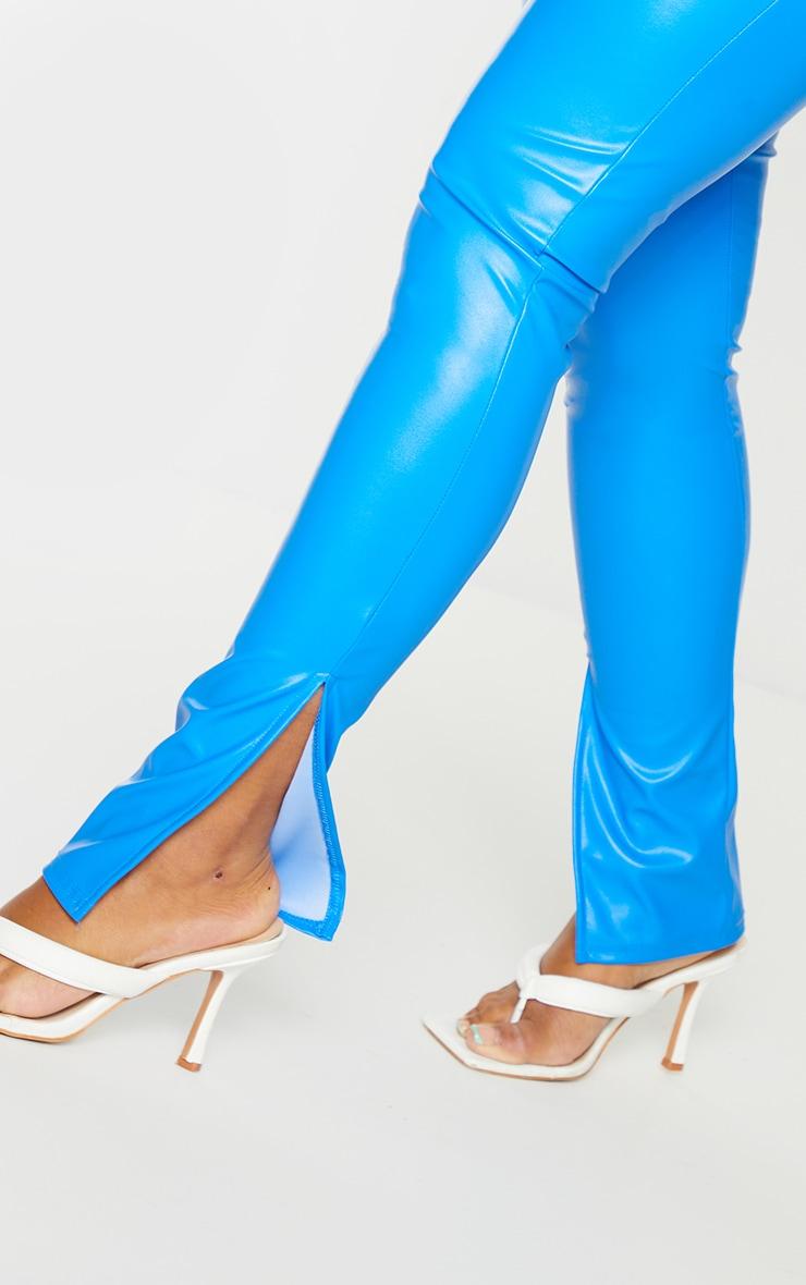 Shape Blue PU Split Hem Trousers 4