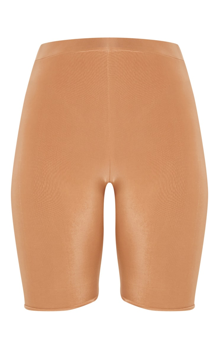 Tall Camel Slinky High Waisted Bike Shorts 3
