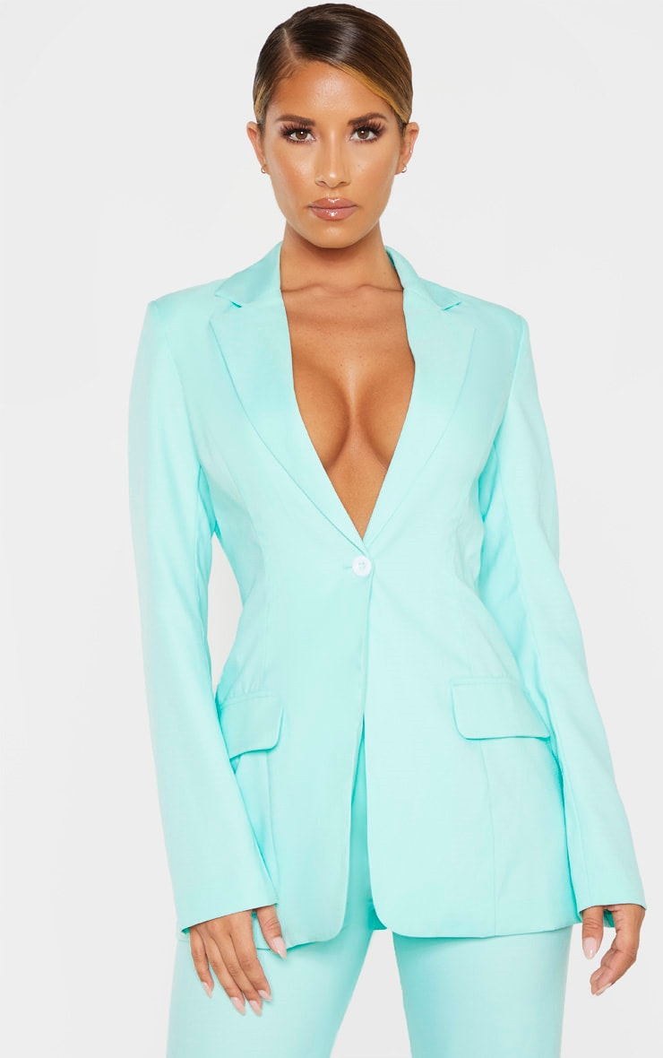 Aqua Structured Suit Woven Blazer 1