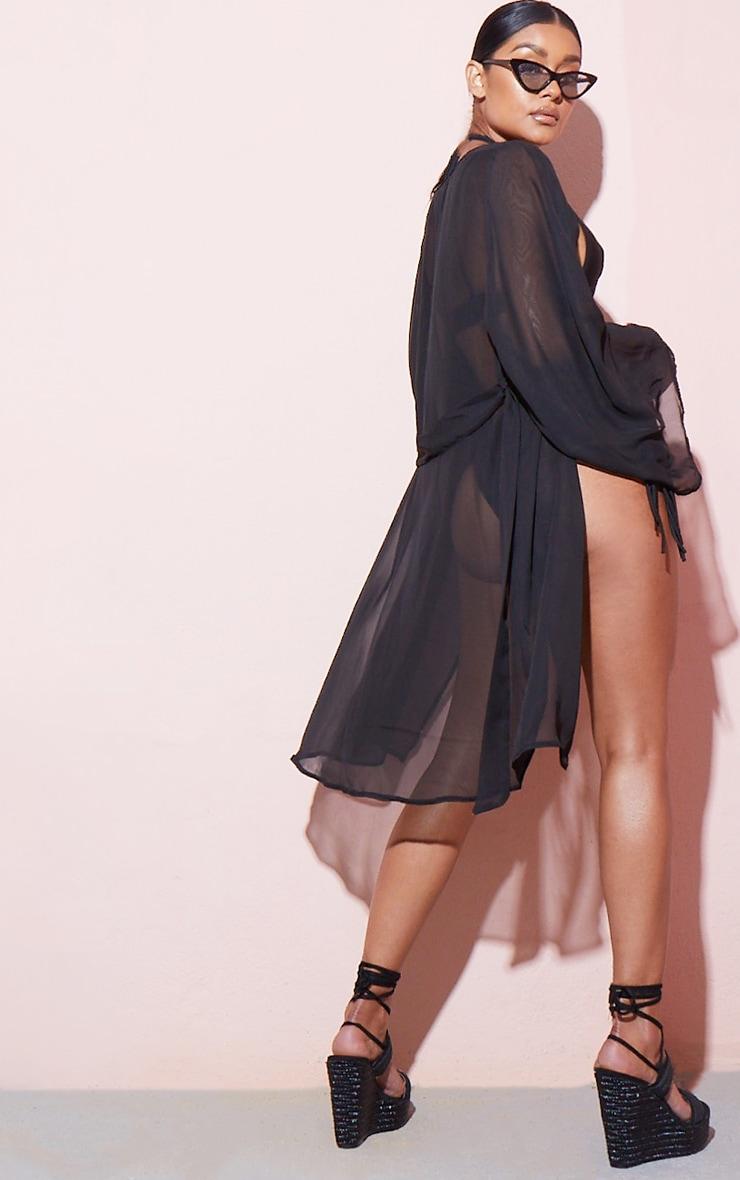 Black Wide Sleeved Kimono 2
