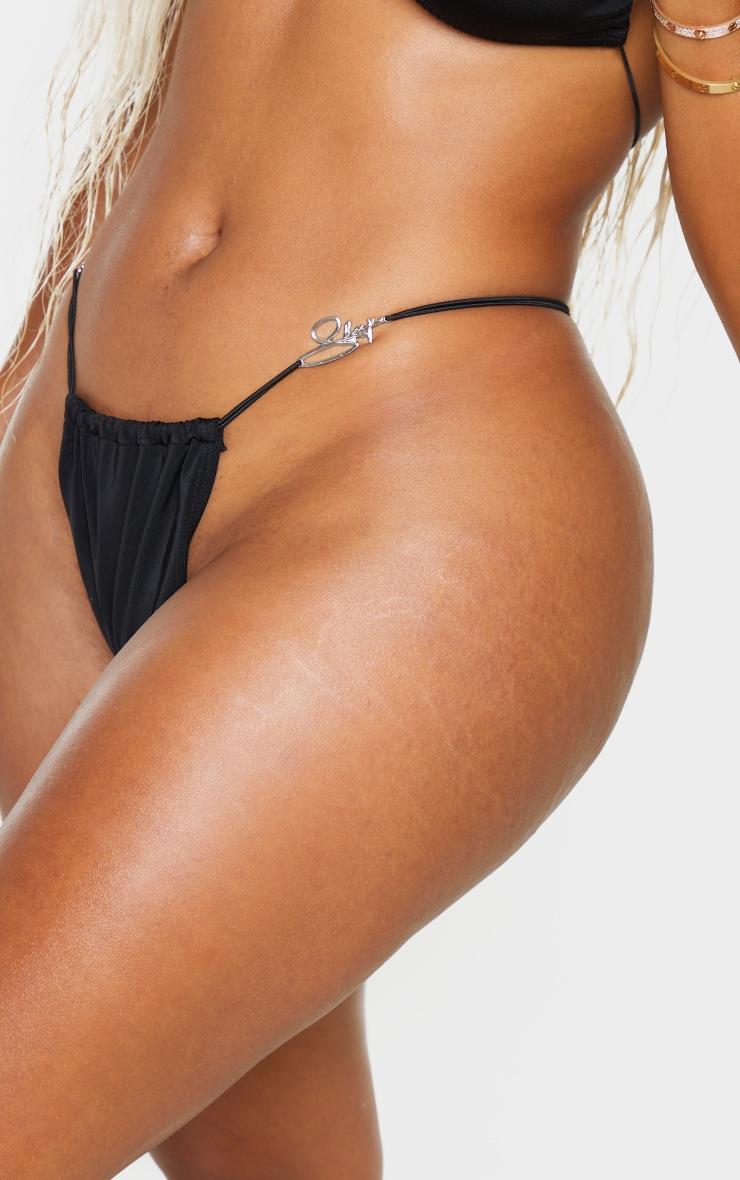Shape Black Branded Trim Bikini Bottoms 4