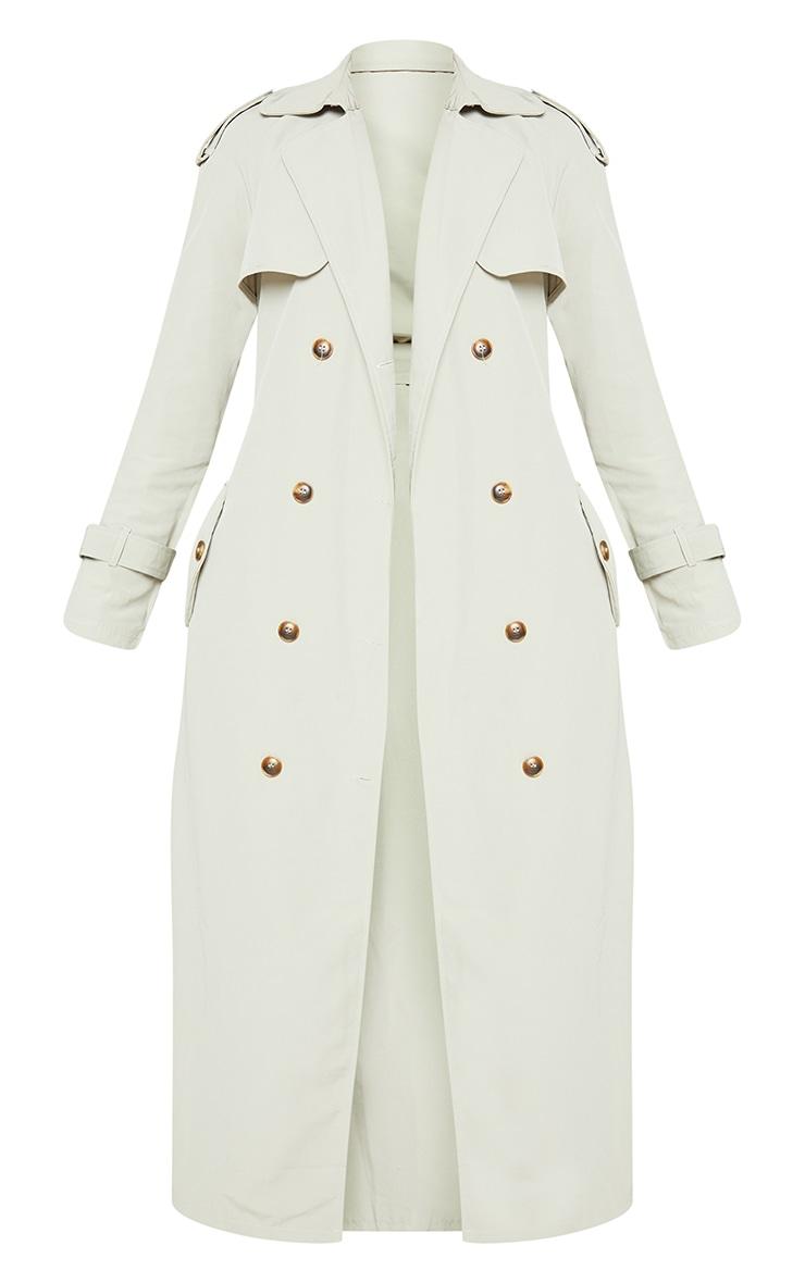 Pale Khaki Trench Coat 6