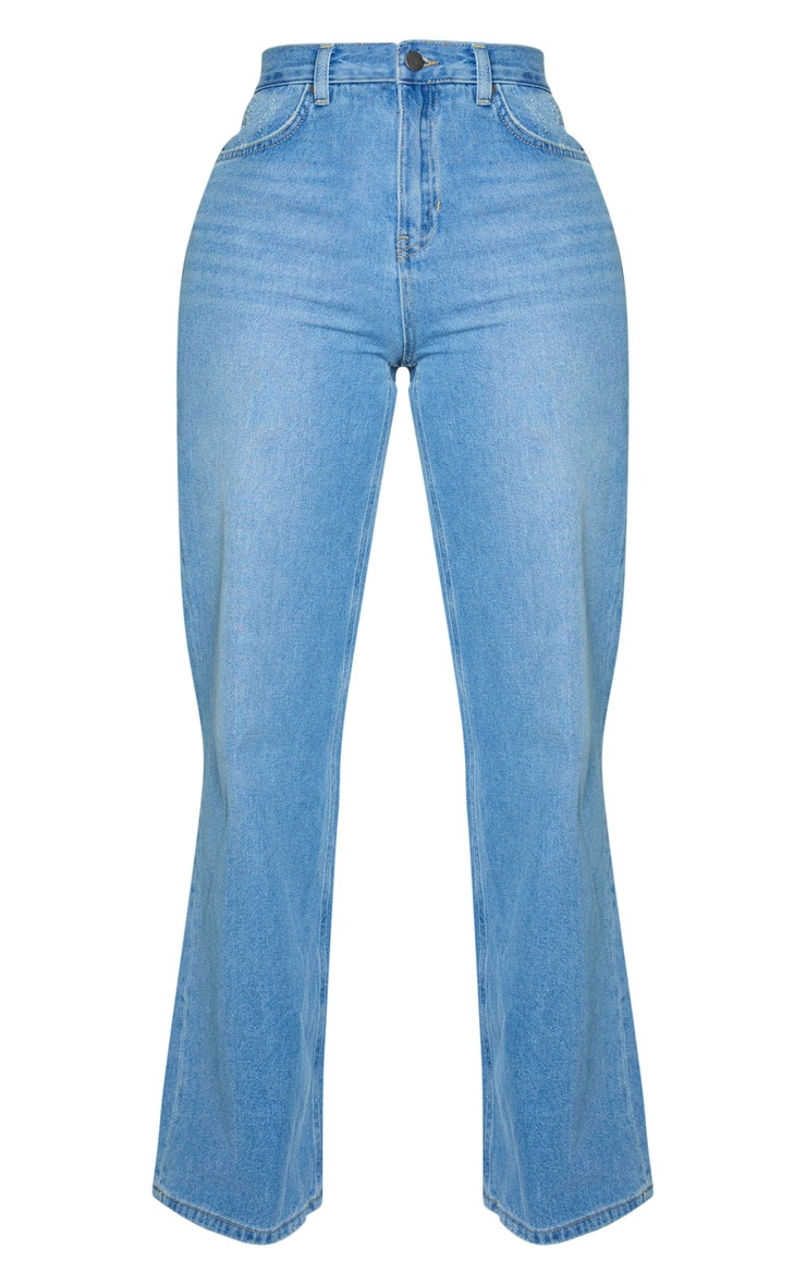 Shape - Jean à jambes évasées et délavage vintage 3