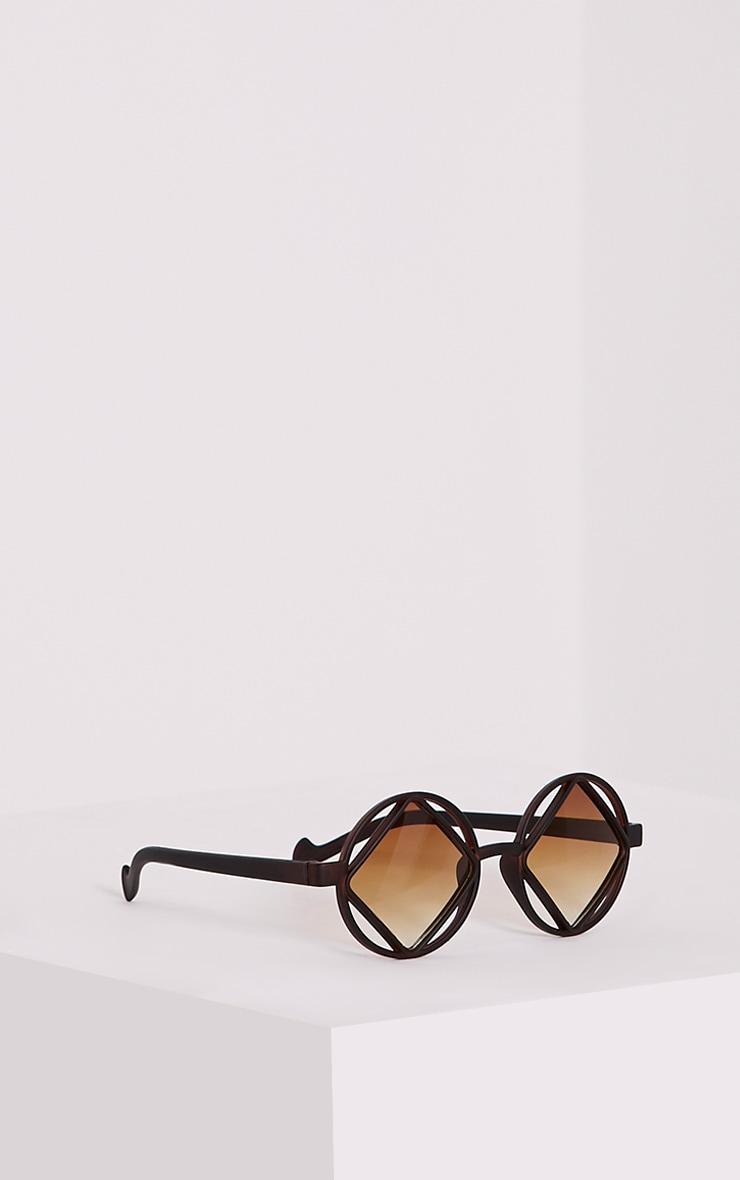 Asha Black Square Cut Out Lens Sunglasses 4