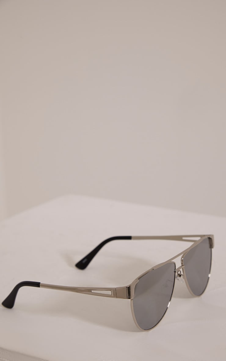 Luanna Silver Mirrored Sunglasses 5
