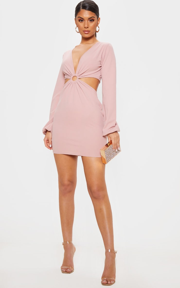 8c2bca5a0245 Blush Ring Detail Cut Out Bodycon Dress image 1