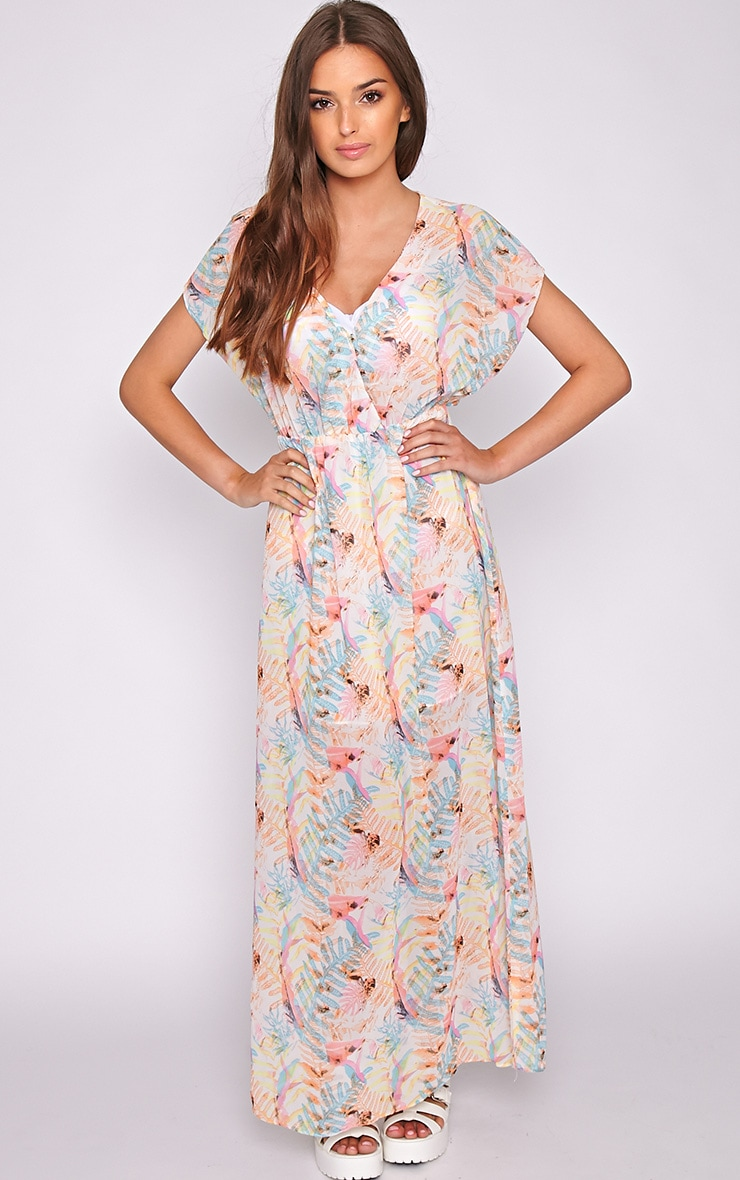 Harlow Tropical Leaf Maxi Dress 3