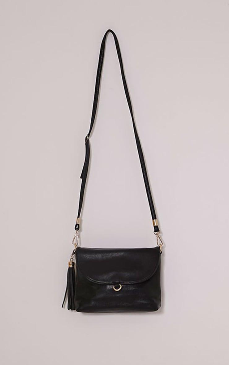 Ezrah Black Tassel Bag 1