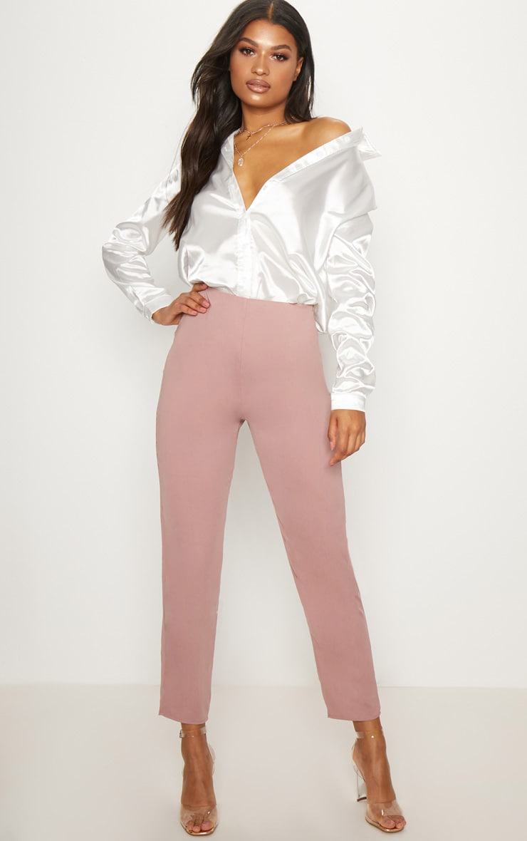 Dusty Pink Super Skinny High Rise Trouser 1