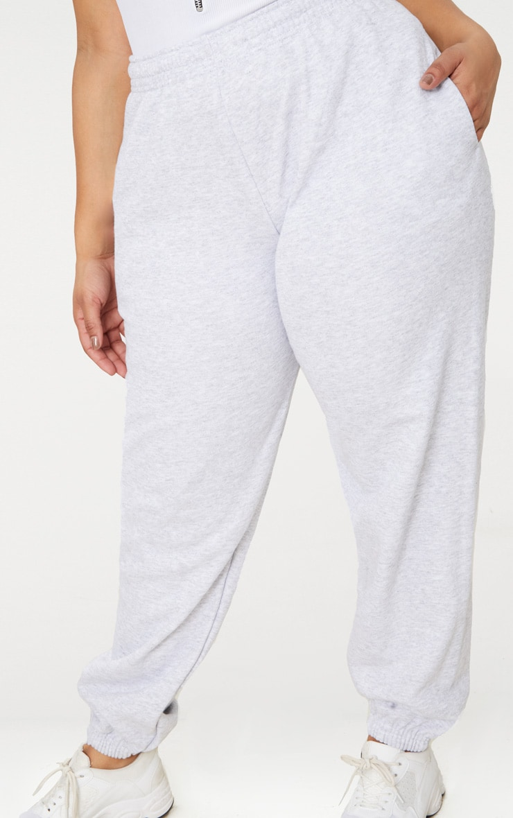 Plus Ash Grey Casual Track Pants 5