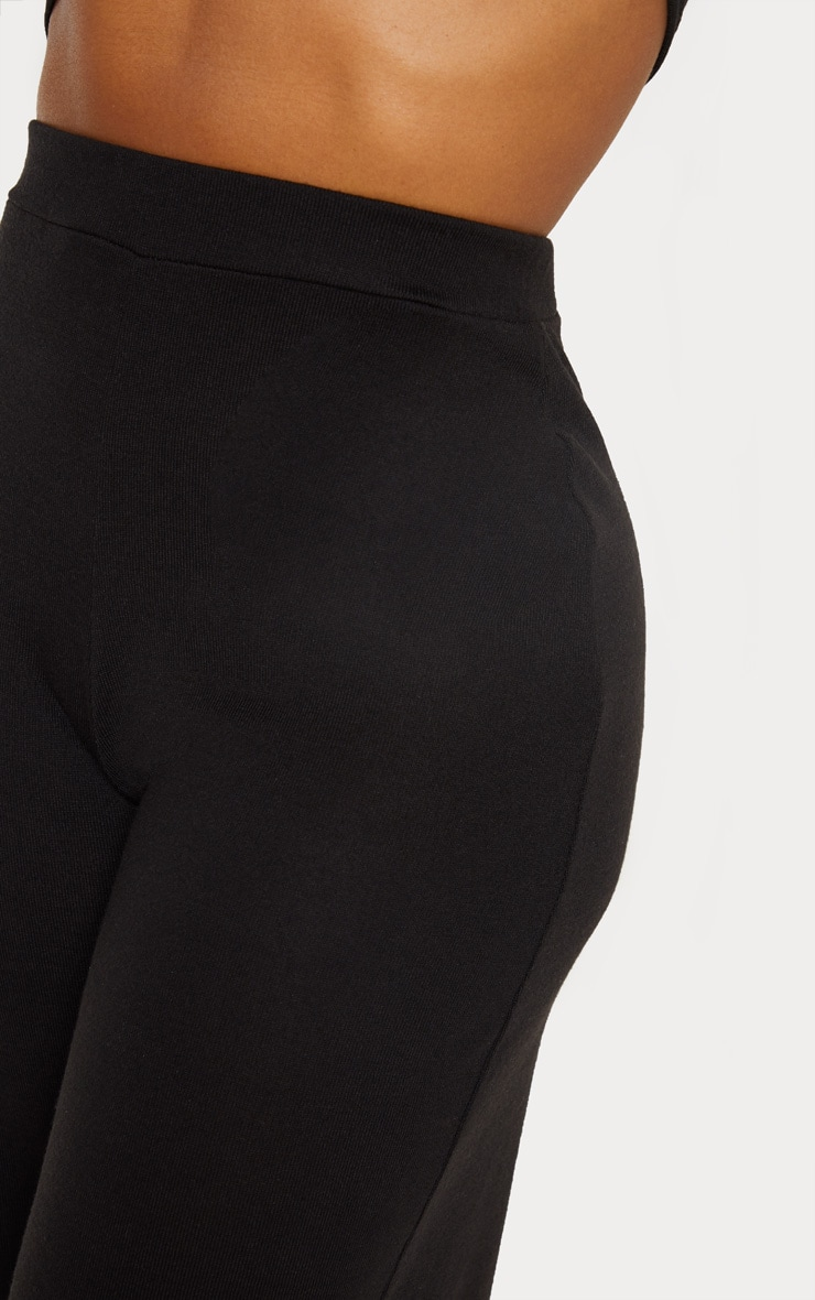 Shape Black Knit Wide Leg Pants 5