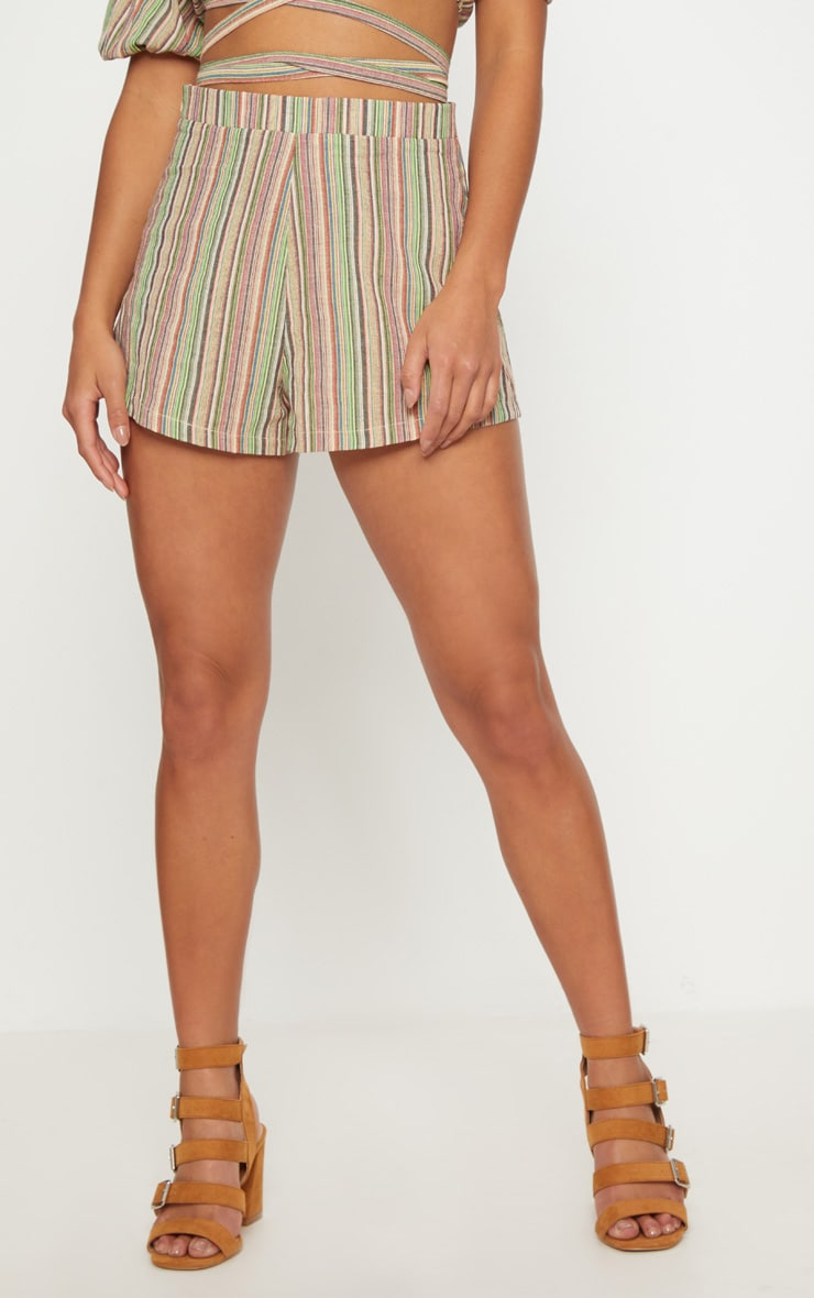 Petite line Striped Shorts 2