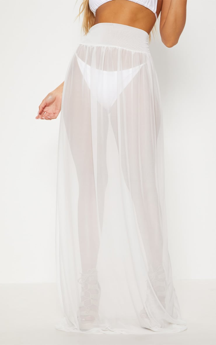 White Bride Beach Skirt 2