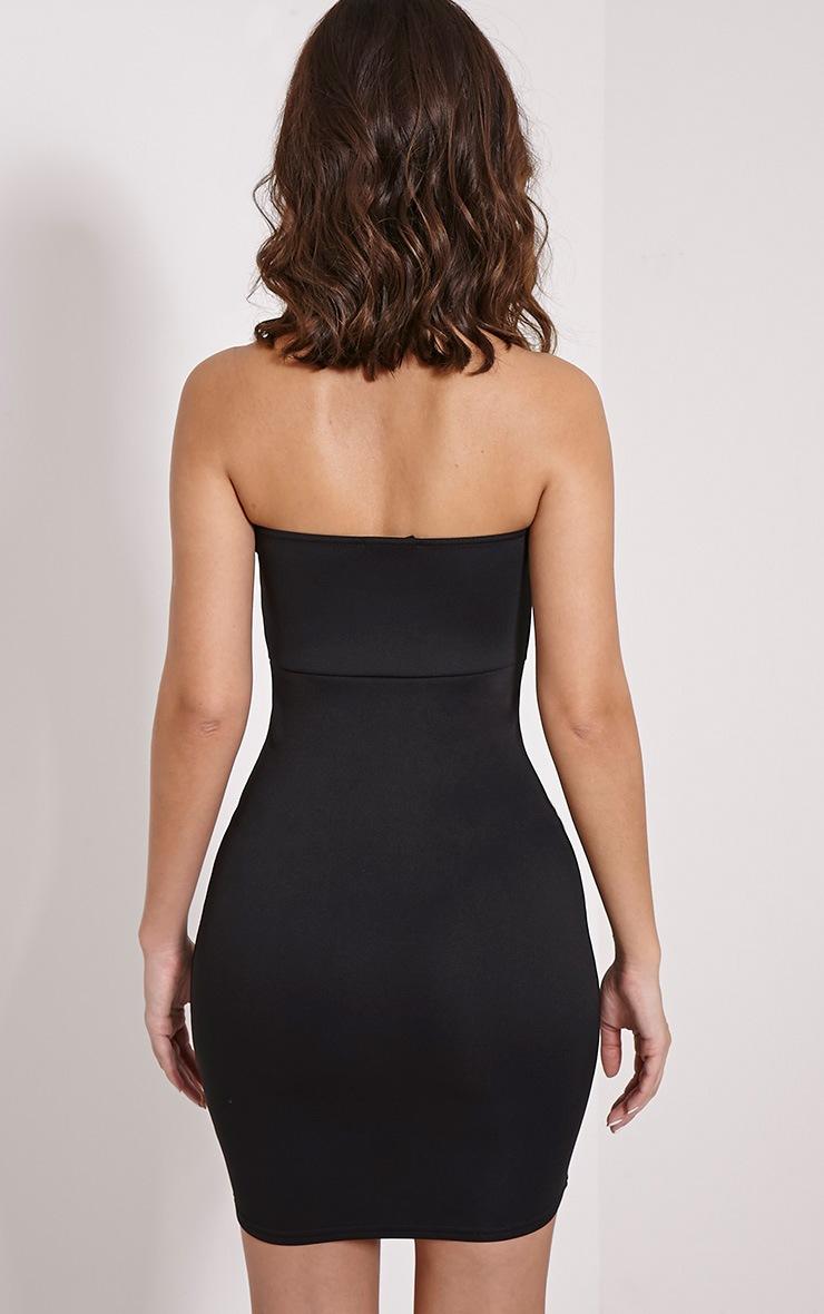 Michelle Black Bandeau Dress 2