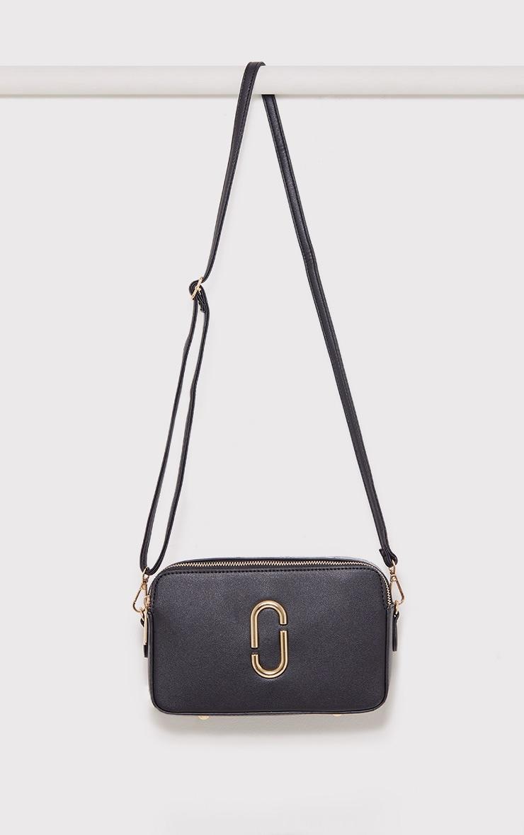 Florence Black Snake Trim Bag 1