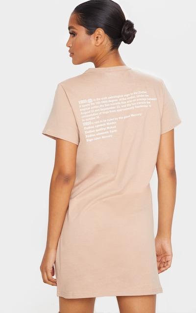 Taupe Virgo Definition Slogan T Shirt Dress