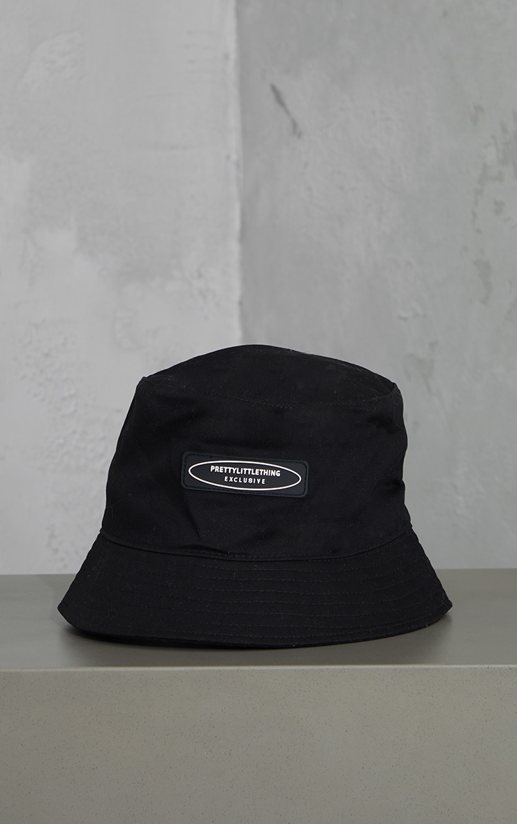 PRETTYLITTLETHING Exclusive Black Bucket Hat 2