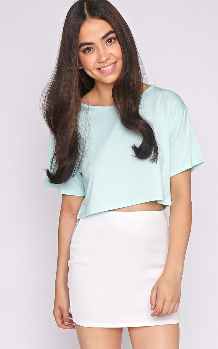 Lucille Mint Boyfriend Crop Top 1
