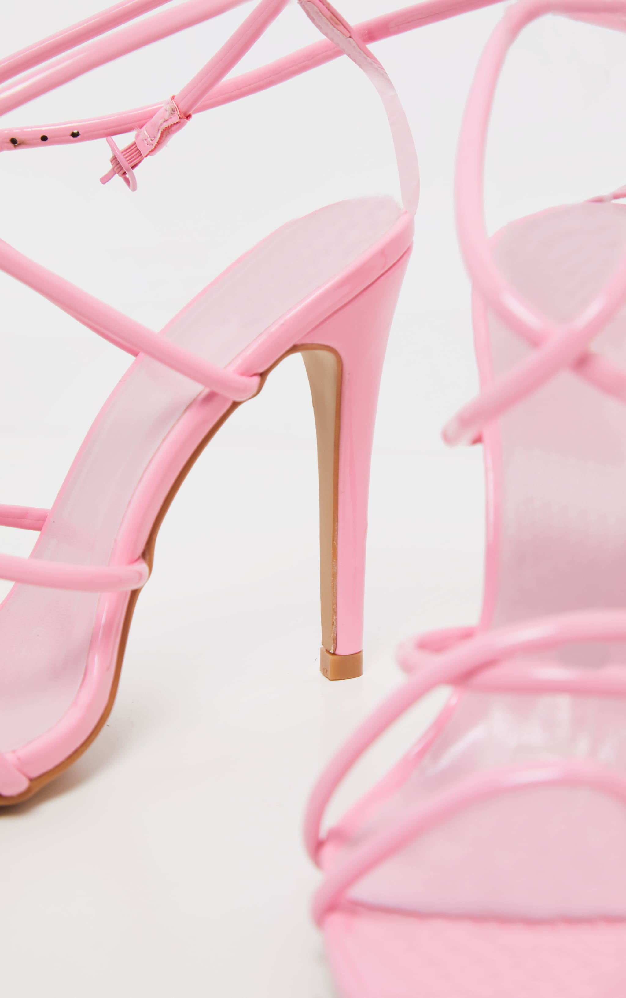 Pastel Pink Tube Strappy Point Toe Sandal 4