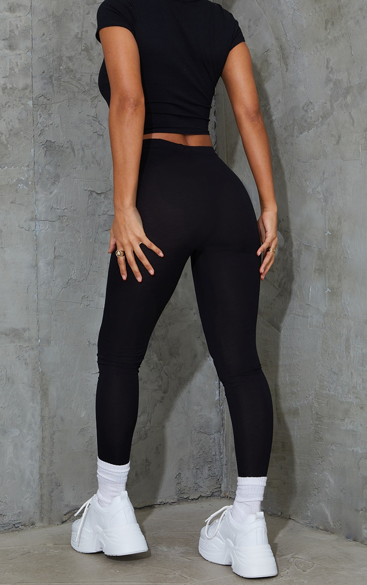 Black and Grey Basic Jersey Legging 2 Pack 3