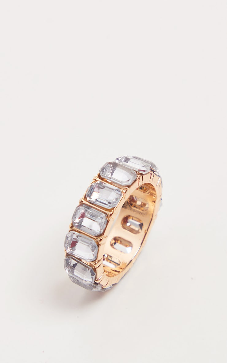 Crystal All Round Diamante Band Rings 3