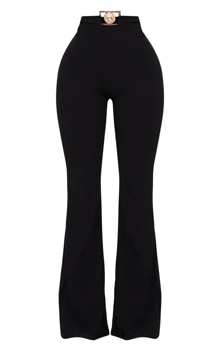 Shape Black Lion Trim Wide Leg Trousers 3
