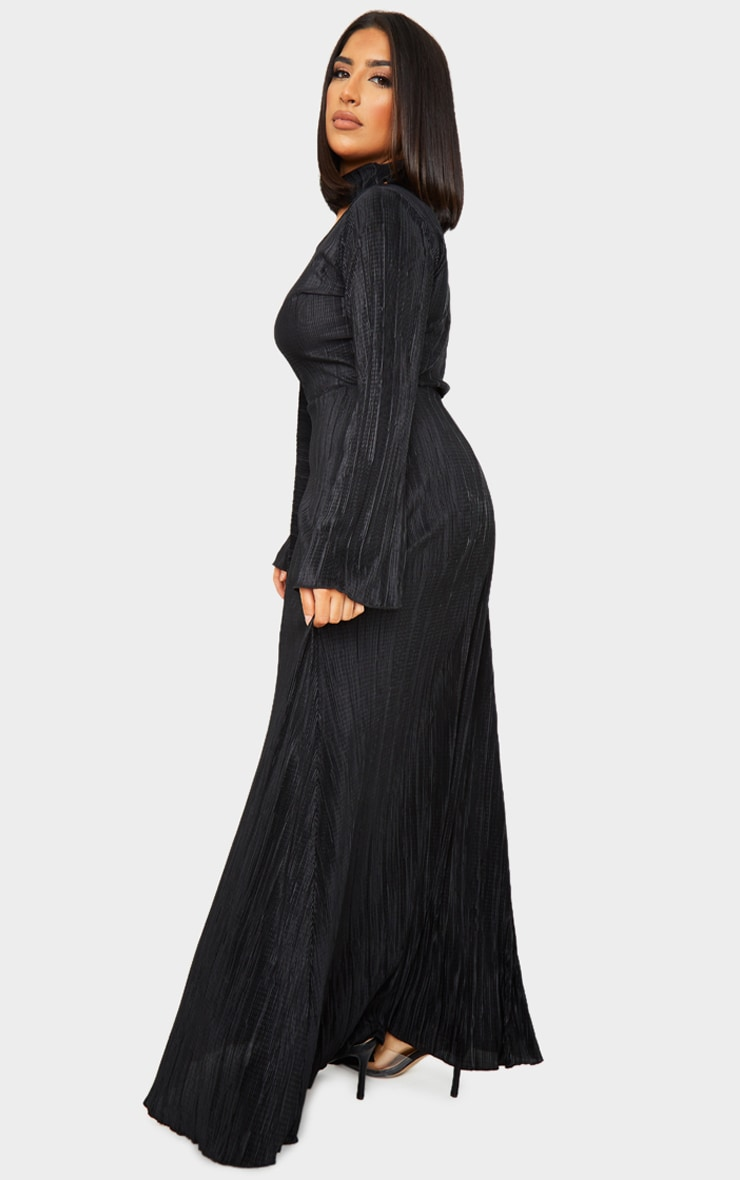 Black Pleated Abaya 2