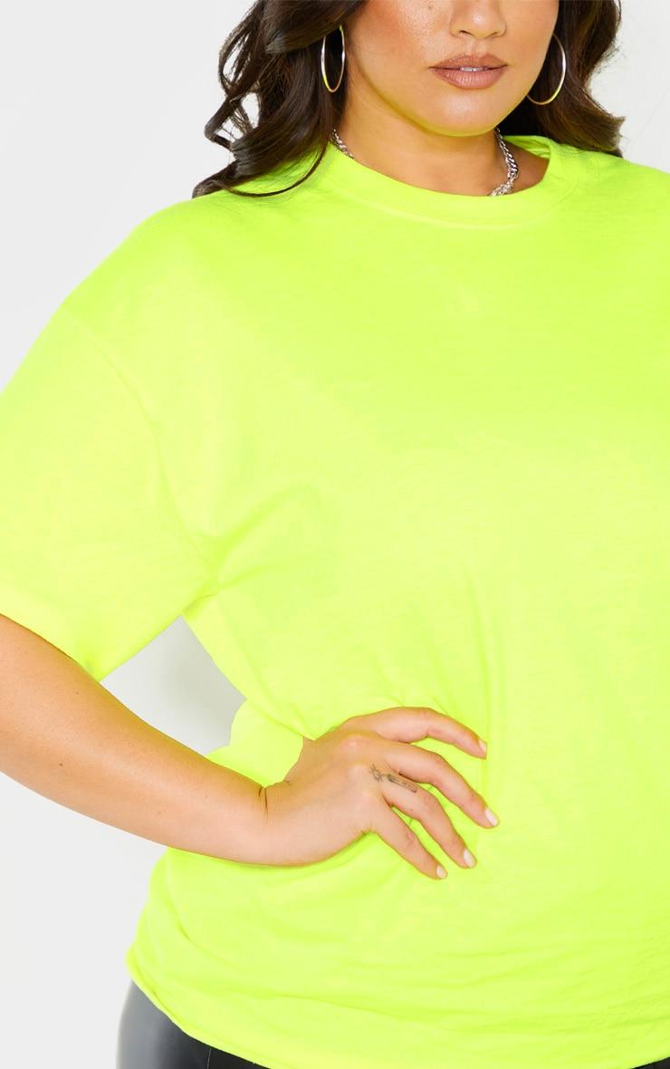 Plus Neon Lime Oversized T Shirt 5