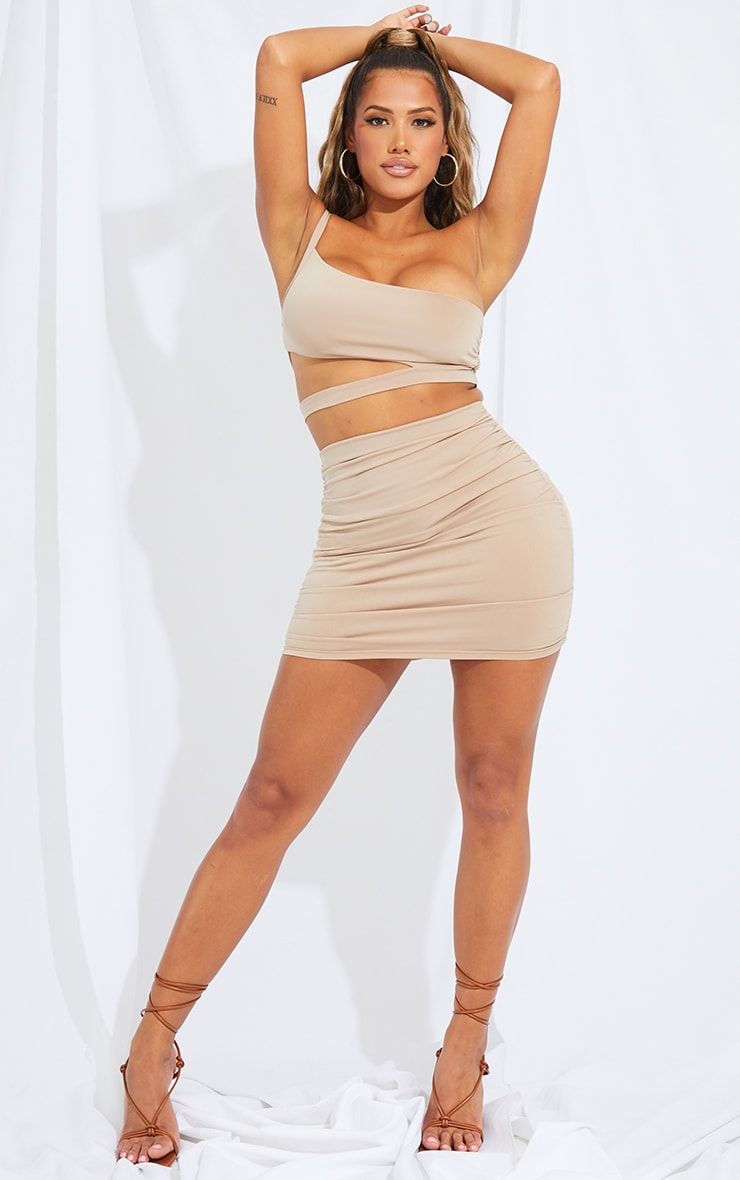 Shape Stone Slinky One Shoulder Cut Out Crop Top 3
