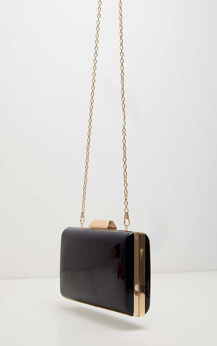 Black Patent Clutch Bag 3