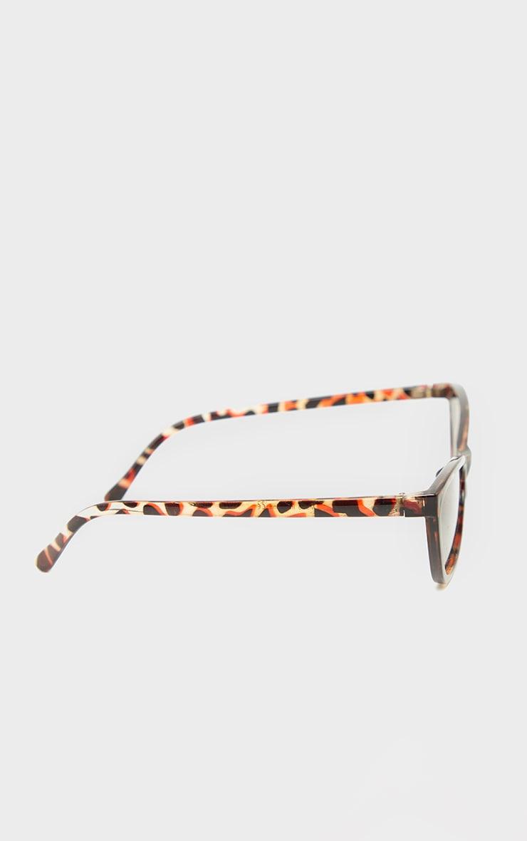 Tortoiseshell Slim Cat Eye Sunglasses 3