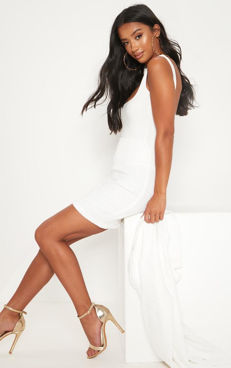 Petite White Boucle Mini Skirt 5