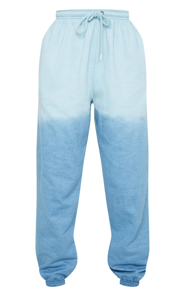 Jogging casual bleu effet dip dye 5