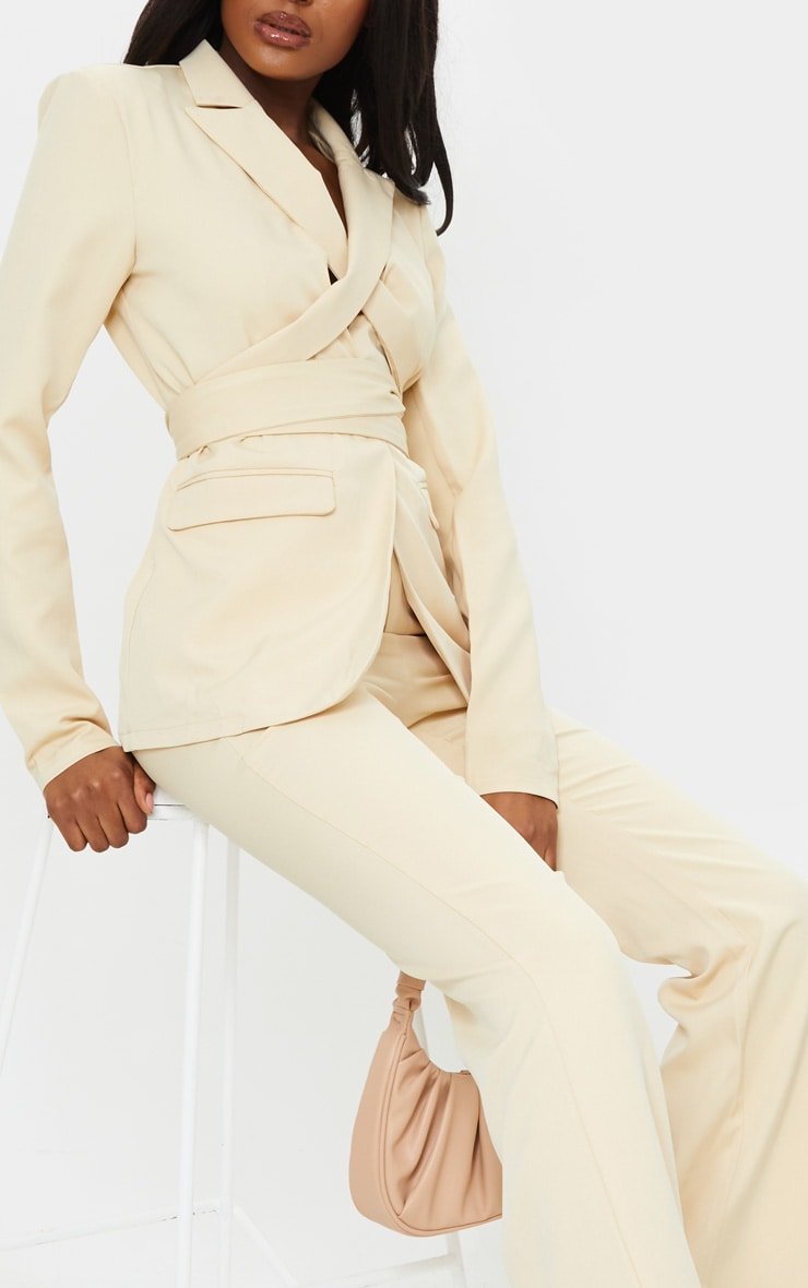 Tall Stone Fitted Flare Suit Pants 4