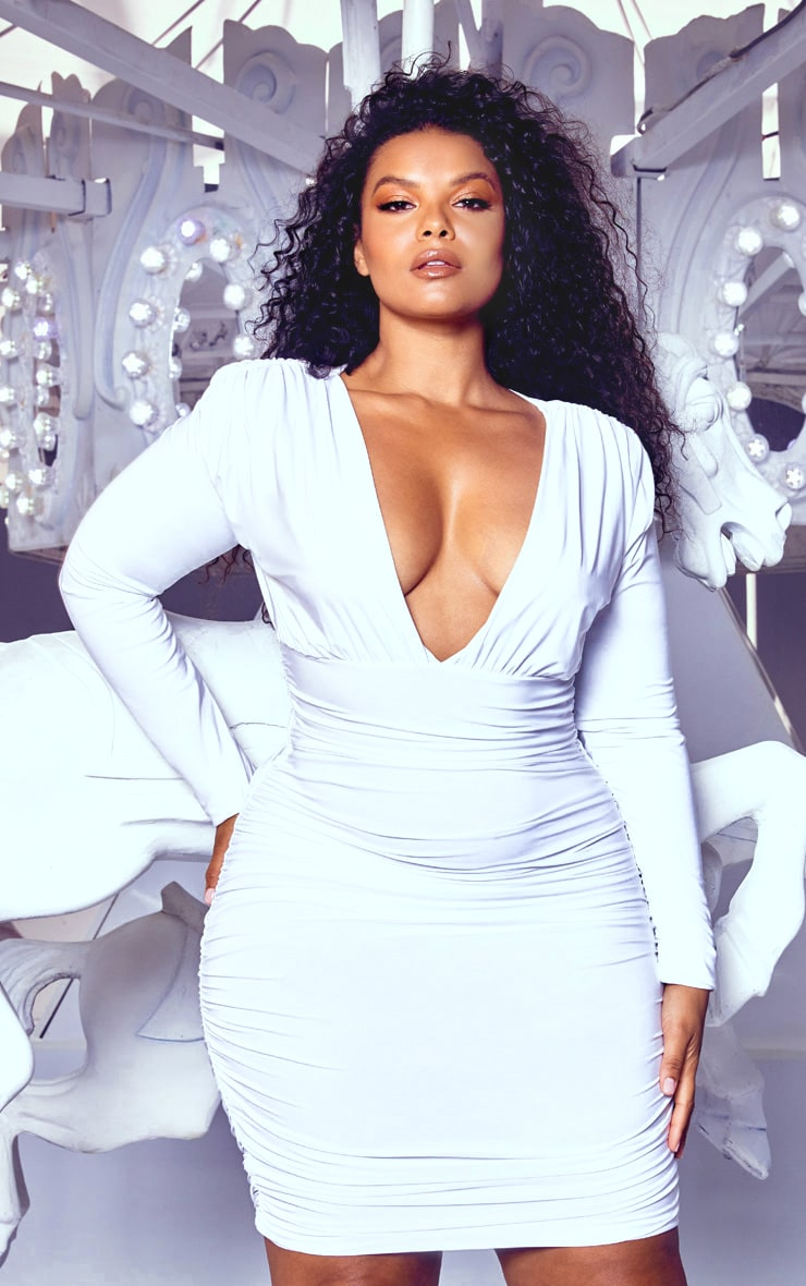 b0cc6e081d All White Bodycon Plus Size Dresses - Data Dynamic AG