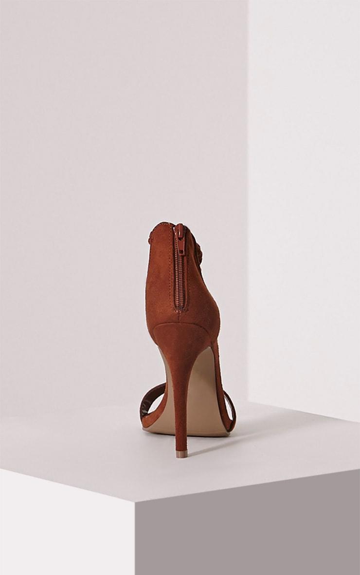 Dulce Mocha Tassel Tie Heeled Sandals 5