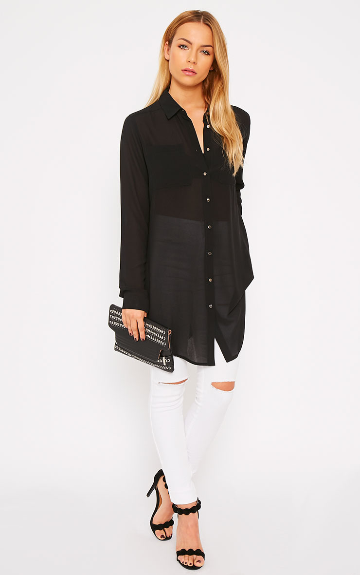 Sofie Black Silver Button Shirt 3