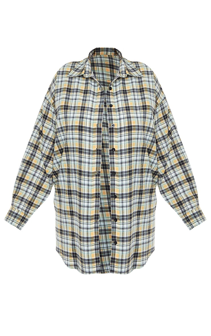 Plus White Check Batwing Shirt 5